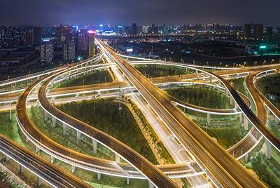 武汉沌口东风大道高架照明项目