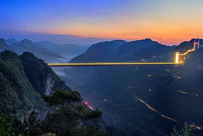 湖南矮寨大桥照明项目