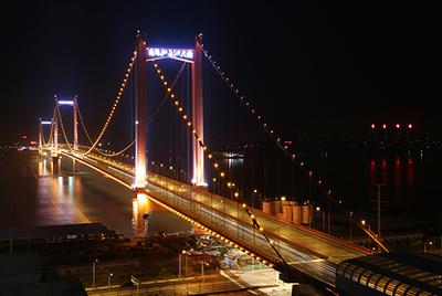 武汉鹦鹉洲长江大桥景观照明工程