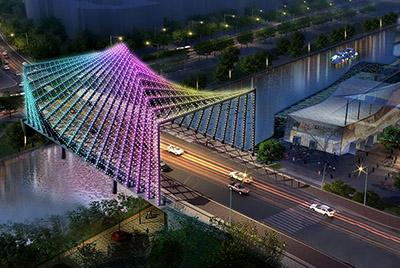 楚河汉街烟霞桥照明设计工程